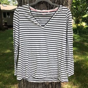 🐟 Boden | Striped V Neck Top